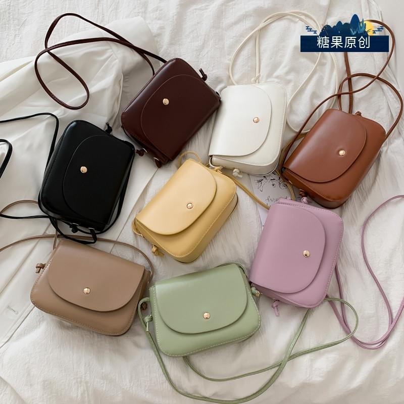 今年流行的包包女2021春季新款潮百搭小清新斜挎包时尚复古小方包