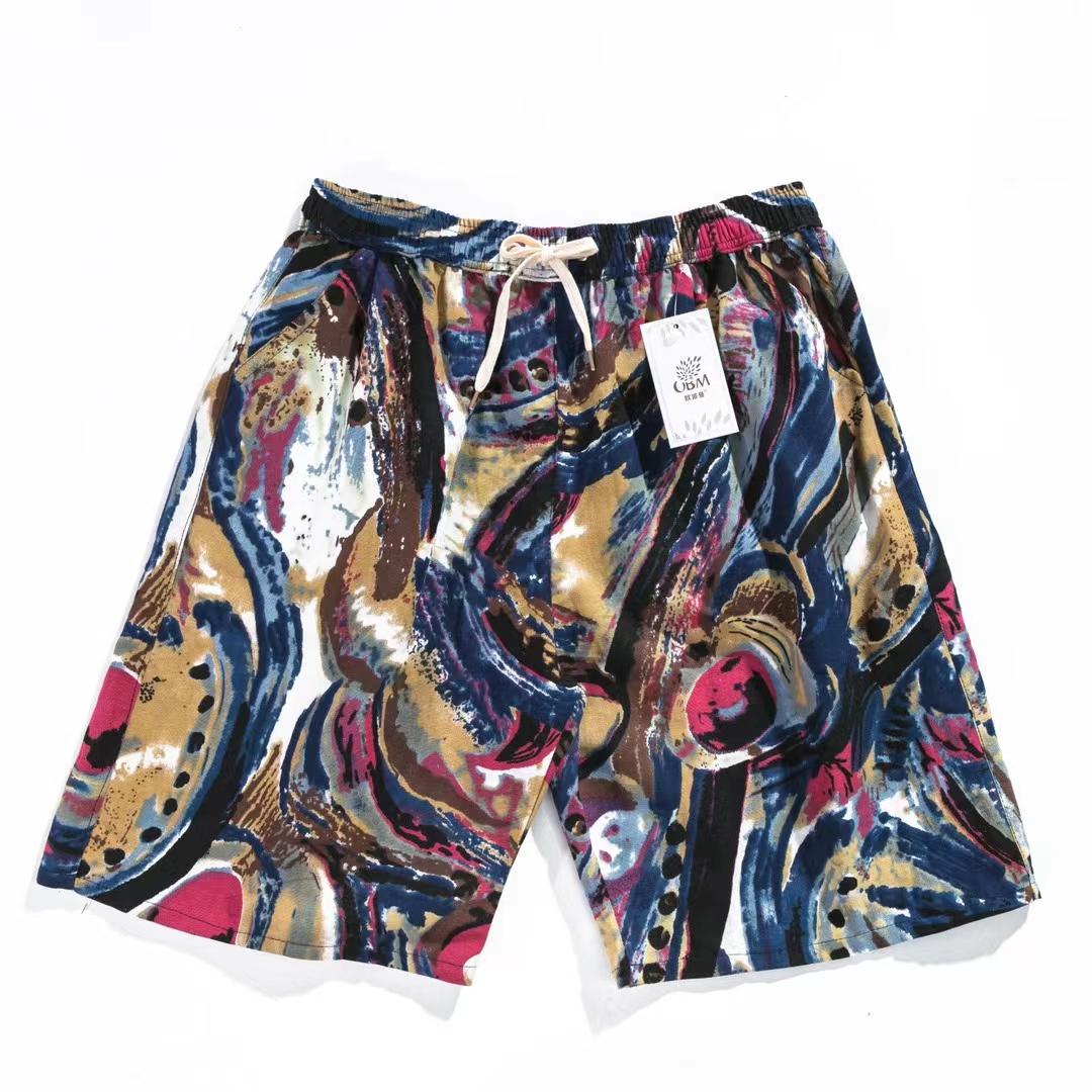 棉麻印花裤7