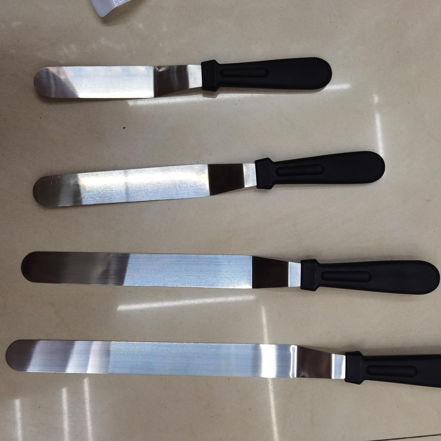 烘焙工具黑色柄不锈钢刮刀抹刀