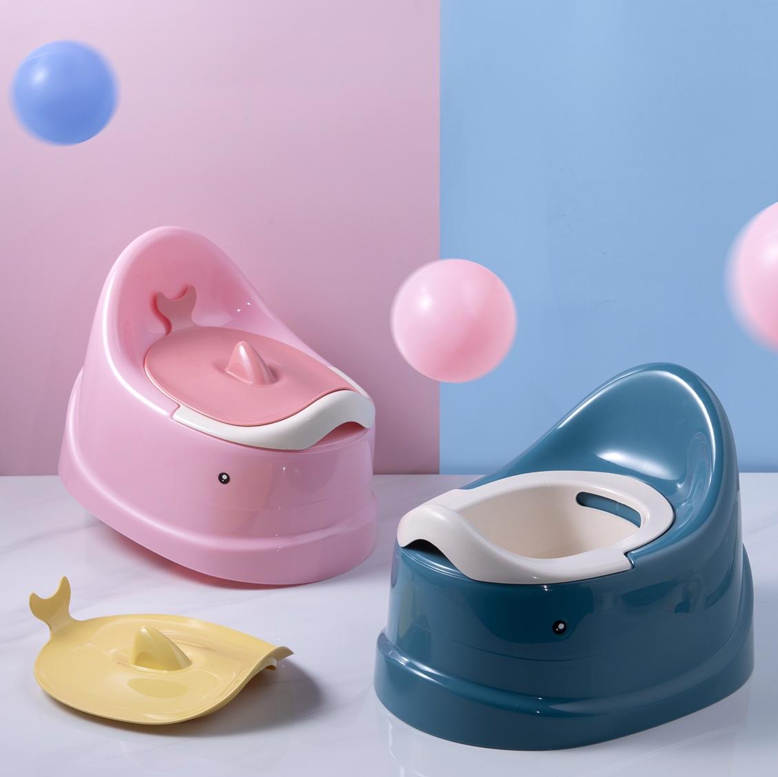 可爱鲸鱼款儿童坐便器男女宝宝1-5岁婴儿便盆婴幼儿小孩马桶新款