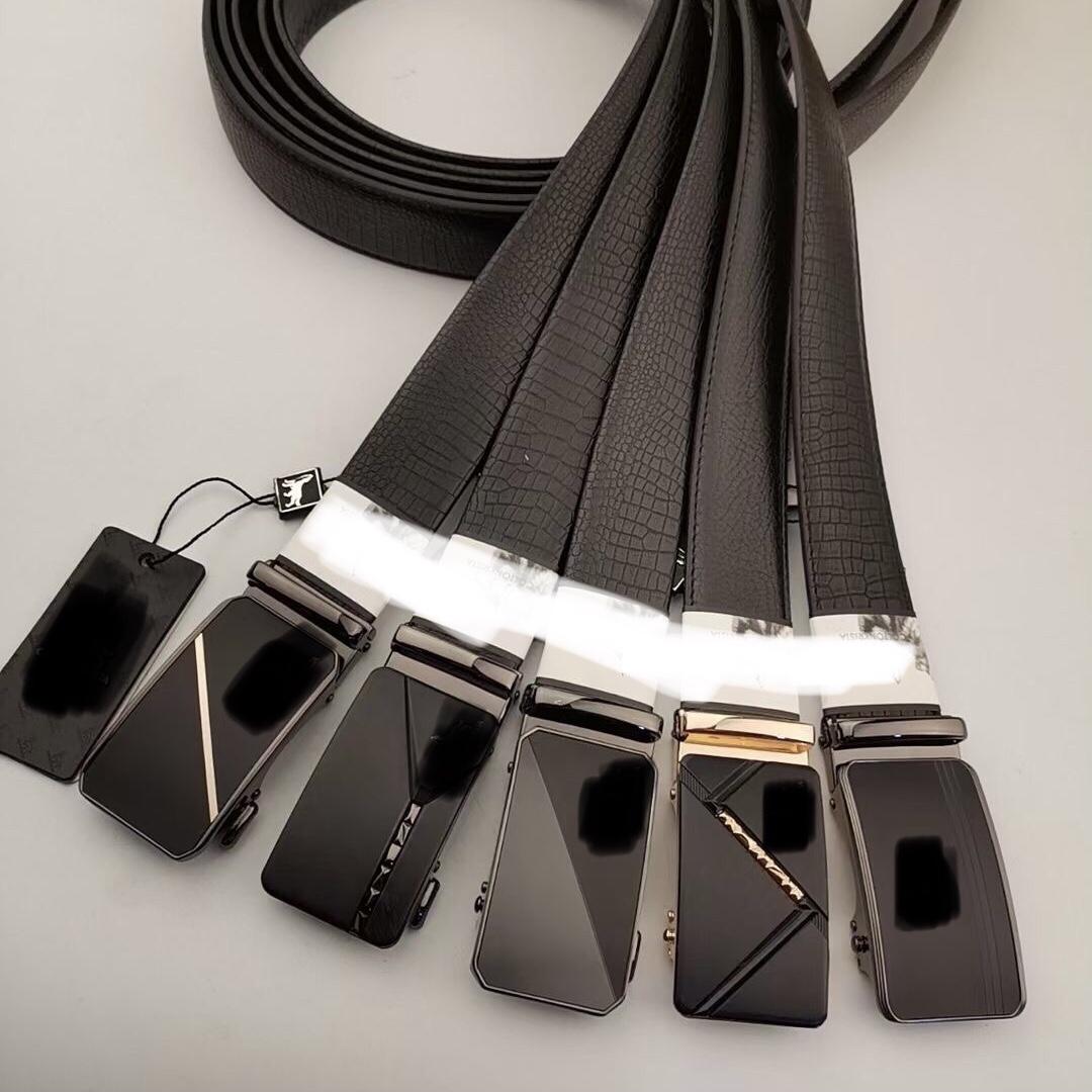 男士腰带私人定制高端瓜子纹路真皮腰带精品休闲款皮带合金自动扣