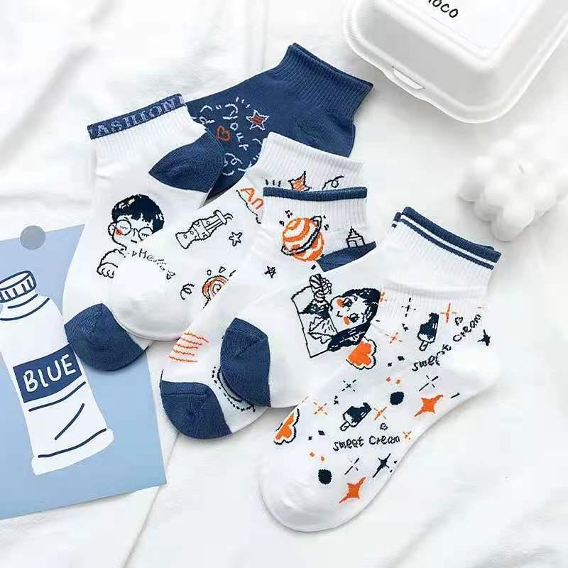 可爱图童袜棉质