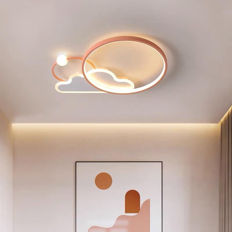 卧室吸顶灯新款北欧led温馨浪漫创意男女孩云朵灯简约儿童房灯具