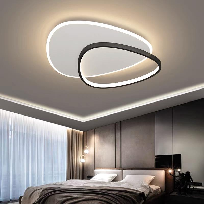 客厅灯现代轻奢水晶吸顶灯饰简约北欧2021年新款全屋灯具套餐