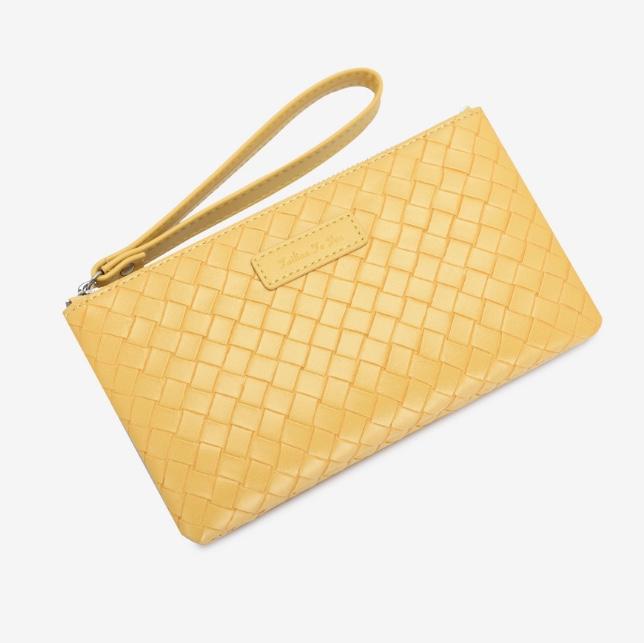 2021新款手拿包超薄大容量编织钱包女士手机包便捷手腕
