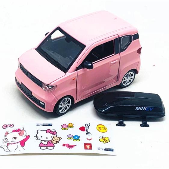 五菱宏光mini车模1:24玩具车男孩汽车模型声光玩具合金迷你车摆件