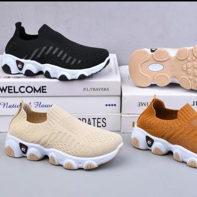 2021时尚休闲透气飞织运动童鞋