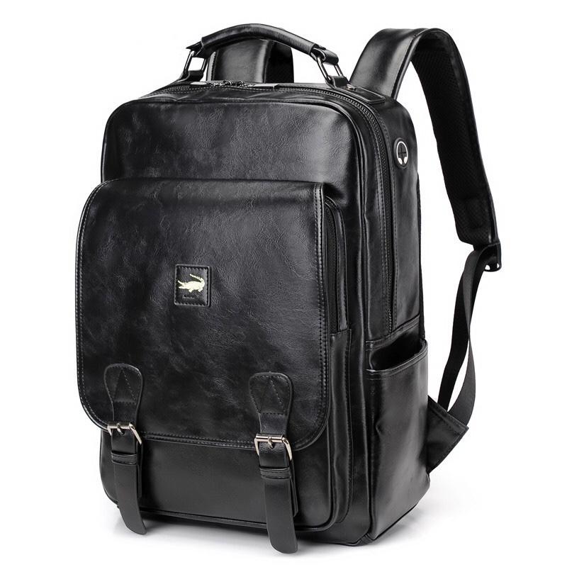 1250双肩包男书包男士时尚潮流青年简约休闲旅行大容量学生背包电脑包