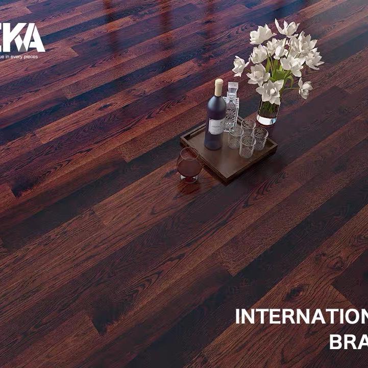 特佳地板原装进口TEKA parquet三层实木独幅船甲板碳化橡木