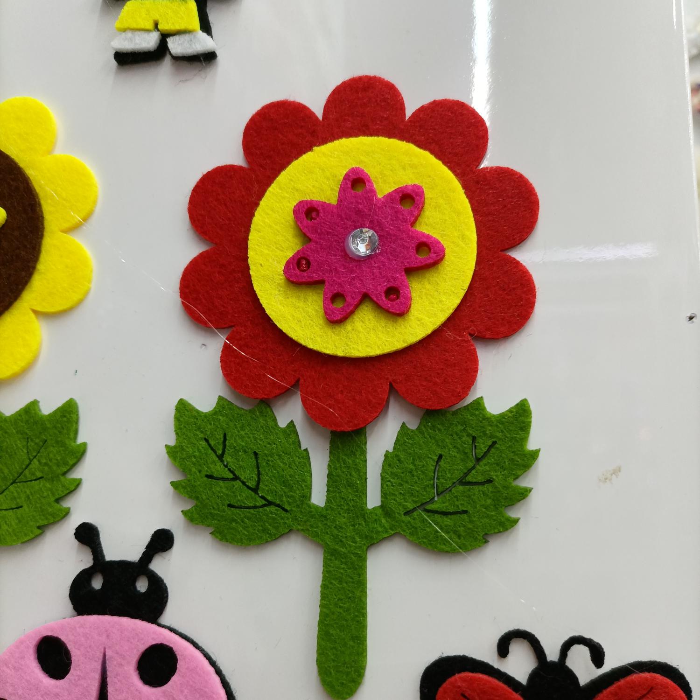 毛毡布无纺布DIY大太阳花贴布饰品童装袜子帽子配件花