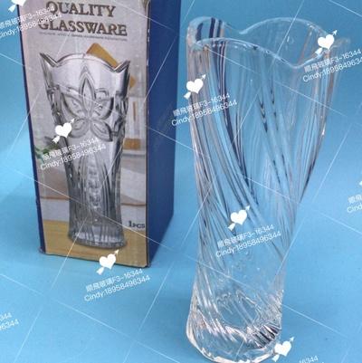 玻璃花瓶扭纹款