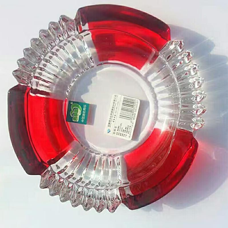 水晶玻璃烟灰缸创意个性潮流家用欧式大号客厅办公室多功能烟灰缸