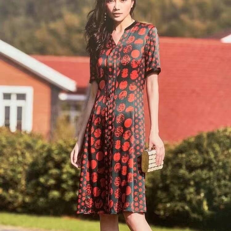 杭州高端桑蚕丝真丝高品质连衣裙