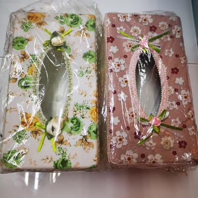 蕾丝边纸巾盒A