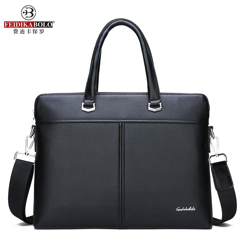 1284新款男包商务男士手提包横款电脑公文包单肩包一件代发