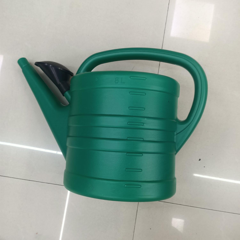 塑料洒水壶8L批发家用农用园艺花卉喷壶超大号绿色加厚塑料洒水壶长嘴浇水花洒器绿色洒水壶