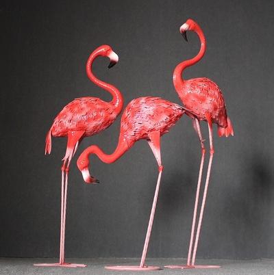 仿真火烈鸟园林景观 婚庆道具 大红色