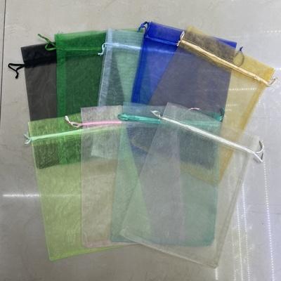 丹承礼品包装厂17x23cm单色珍珠纱礼品袋素色束口纱布袋颜色随机发货厂家直销10046糖果袋饰品袋子包装
