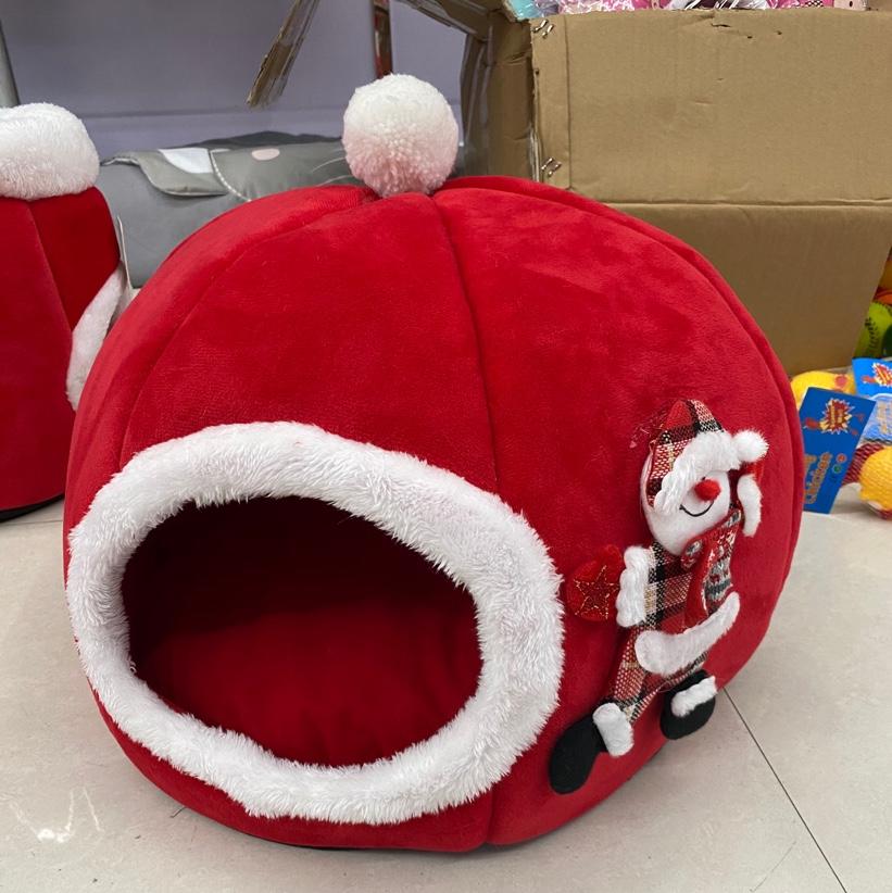 秋冬保暖跨境宠物用品立体海绵猫窝创意宠物窝帐篷圣诞南瓜狗窝圣诞窝新款大号