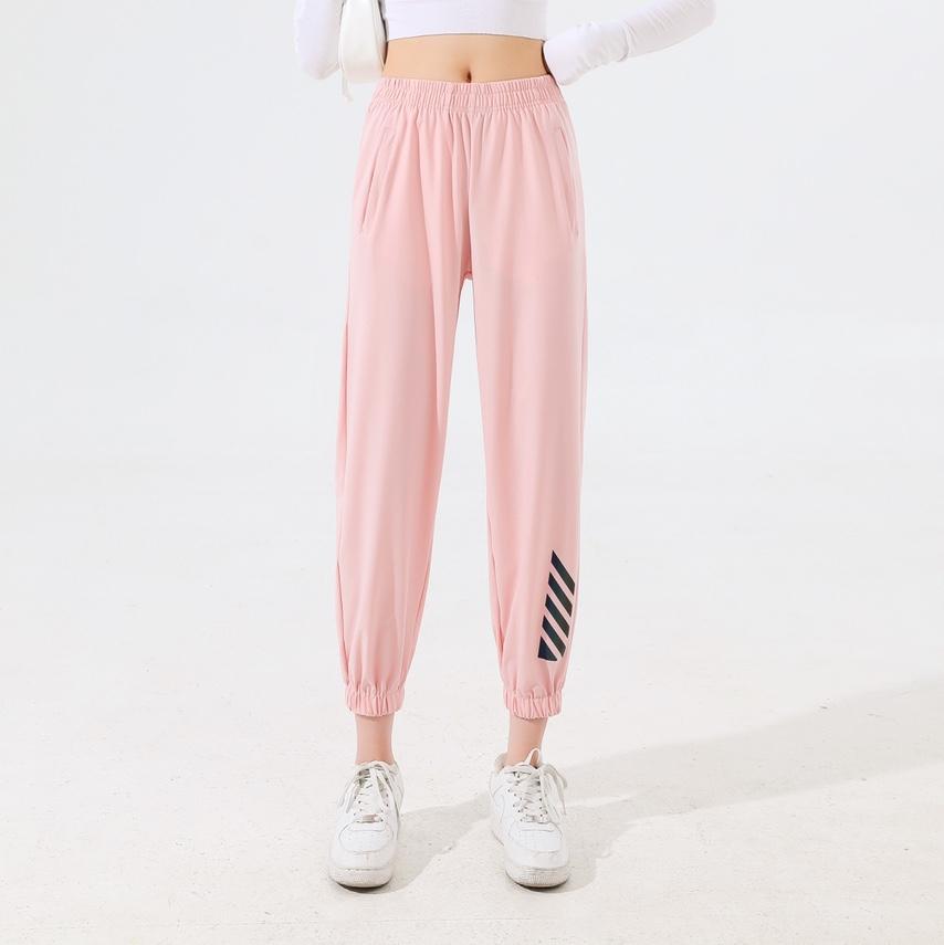 夏款锦纶高弹运动裤速干裤多彩女裤