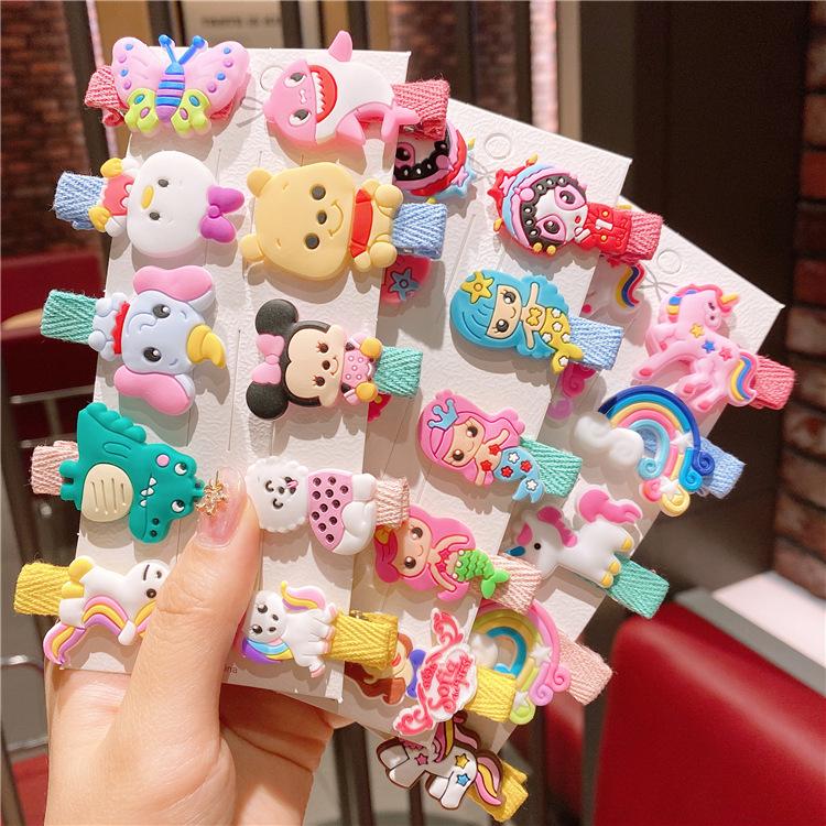 韩版粉色系卡纸套装儿童发夹新款宝宝发饰刘海夹女童发卡头饰夹子
