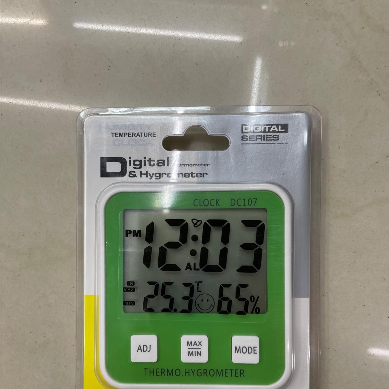 107绿色温湿度传感器家用温度计