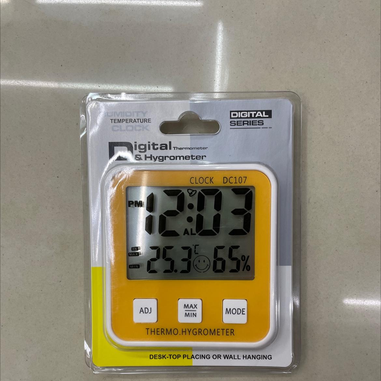 107带时间温湿度传感器温度计
