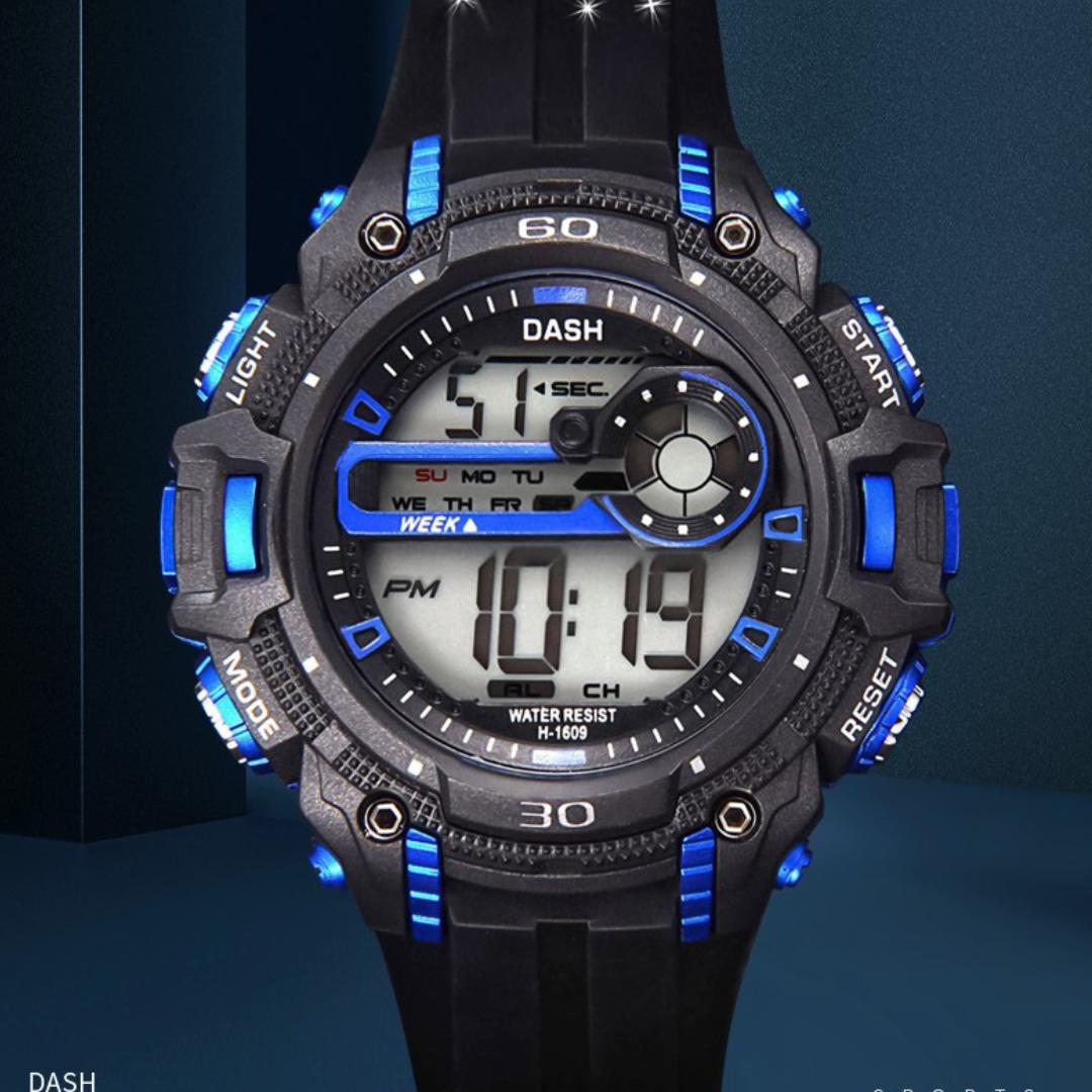 防水运动电子表学生时尚手表1609