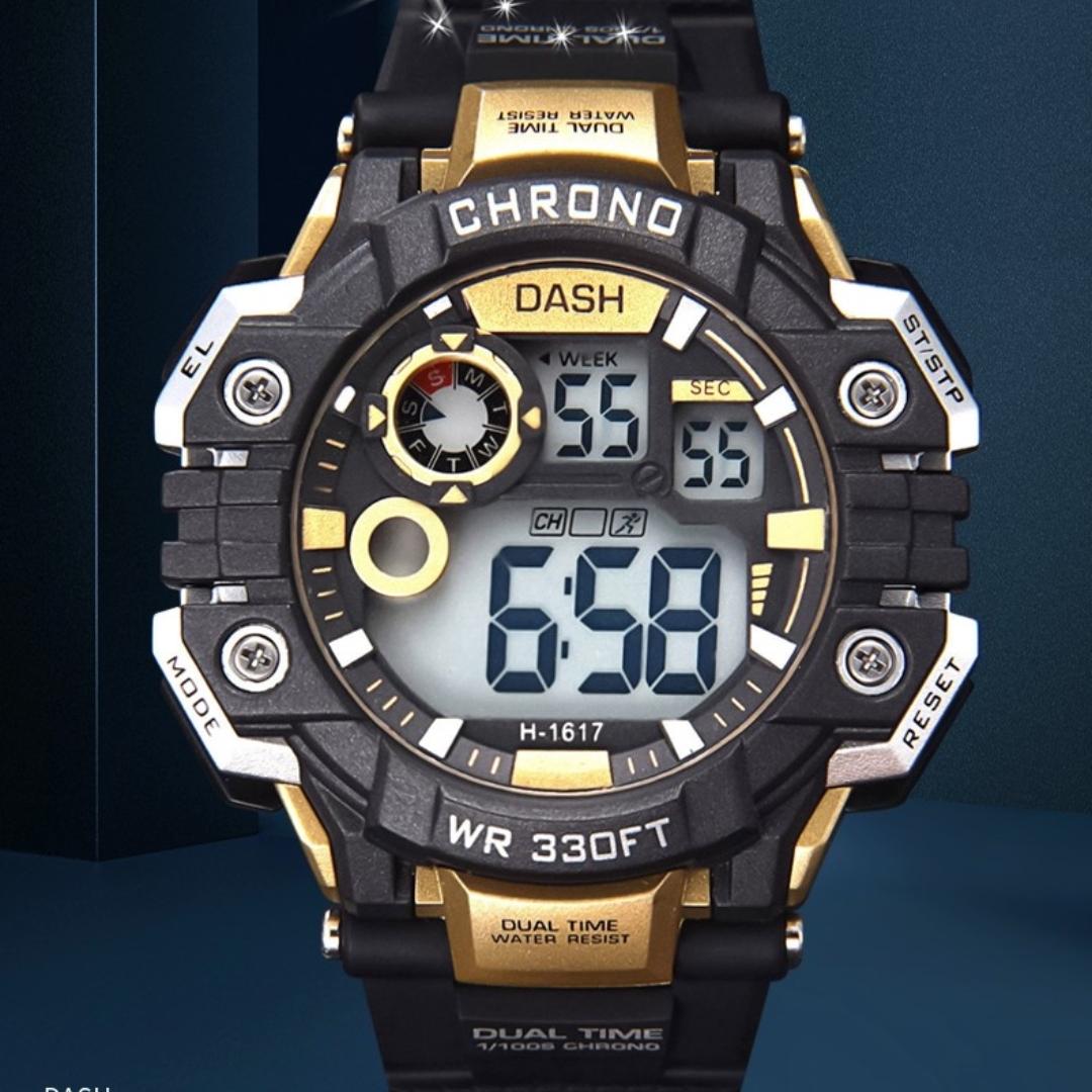 防水运动电子表学生时尚手表1617