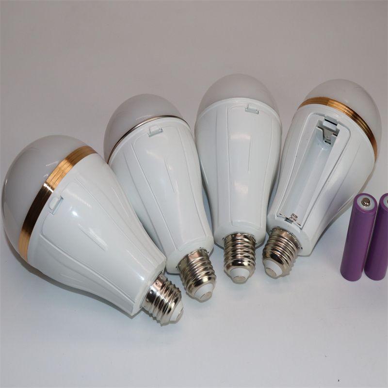 可拆卸双电池LED停电应急球泡灯 夜市地摊便携式移动照明光源