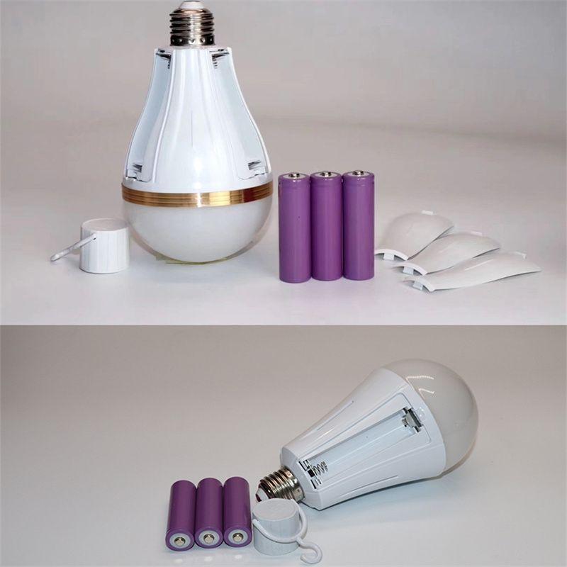 LED可拆卸三电池充电灯泡 户外地摊夜市应急神器便携螺口球泡灯
