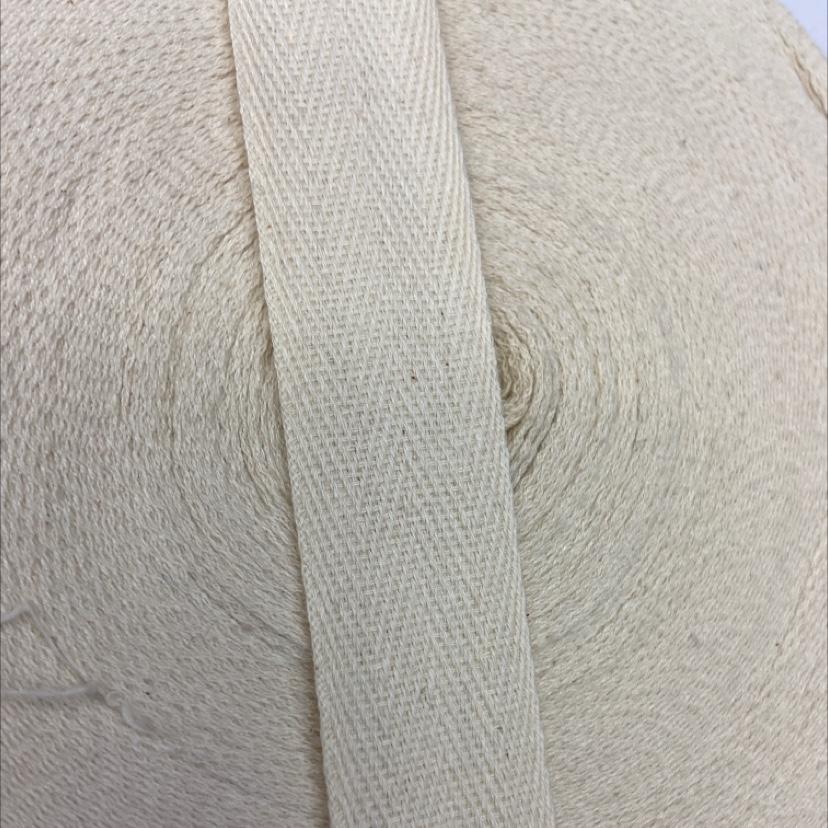 2.5公分全棉本白人字纹