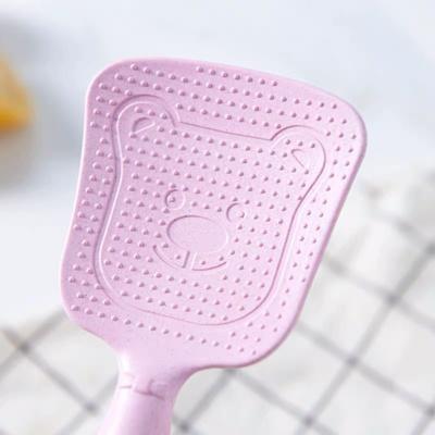 小麦秸秆创意可爱卡通塑料饭勺家用电饭煲不粘米盛饭勺铲子打饭勺