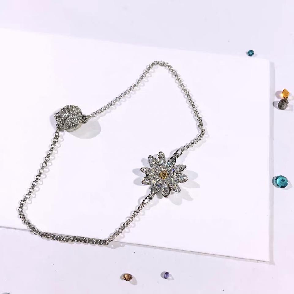 韩版,欧洲,俄罗斯流行新款雏菊耳环项链手镯手链套装