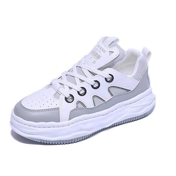 超火时尚拼色女鞋夏季2021年新款网红韩版学生板鞋百搭运动休闲鞋