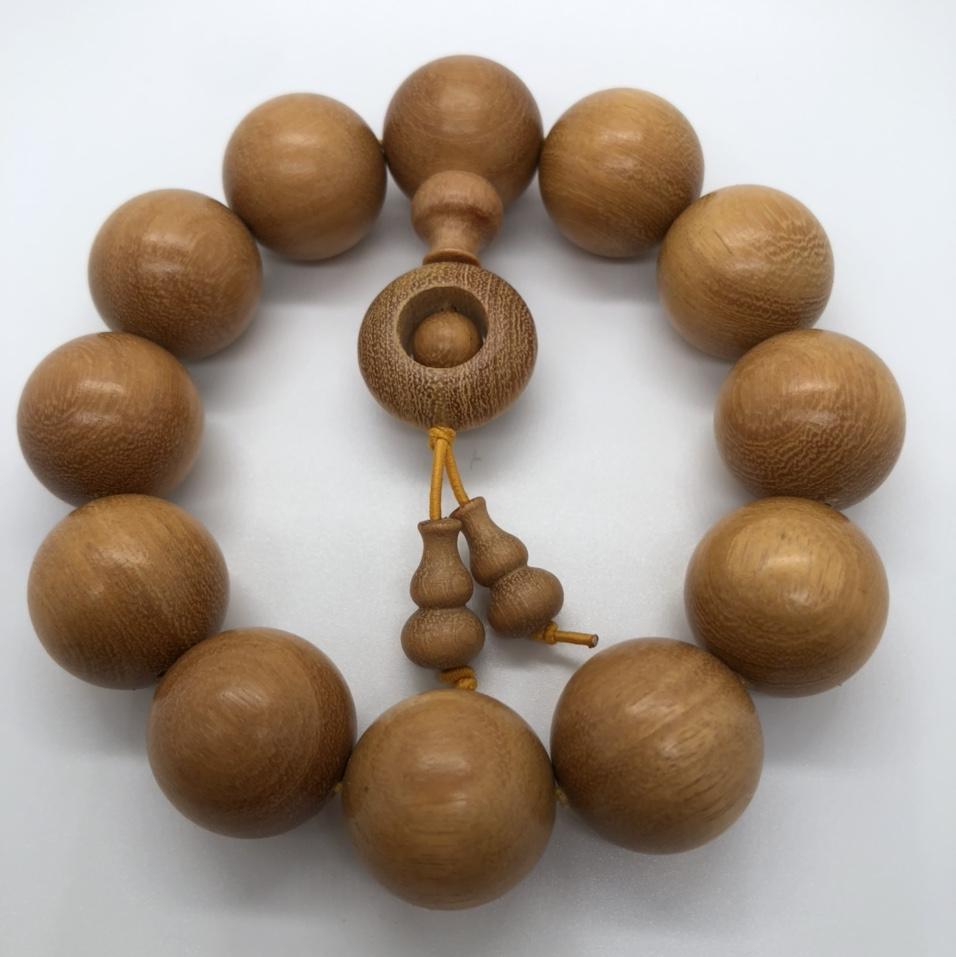 精品黄杨木2.0cm手珠吊葫芦