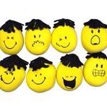 中号黄色变脸娃娃挤压减压神器造型玩具创意卡通
