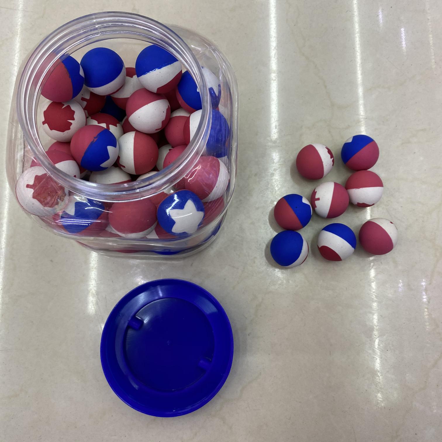 义乌好货 厂家直销 橡胶实心弹力球弹跳球 儿童玩具一元扭蛋机