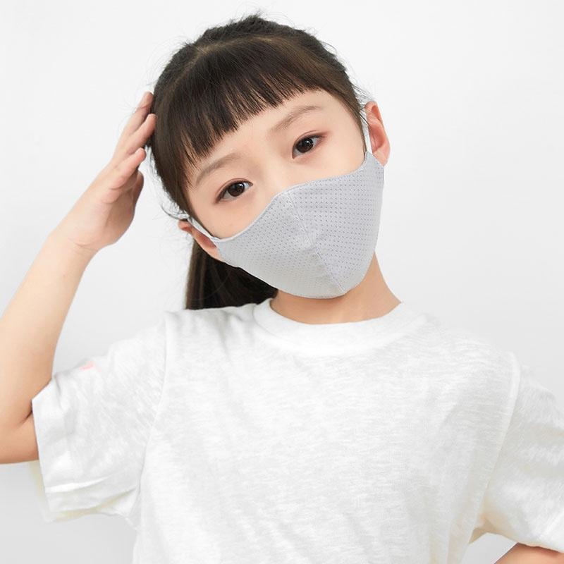 儿童口罩薄款冰丝透气夏天防尘防晒小孩宝宝男童女童包装独立可洗