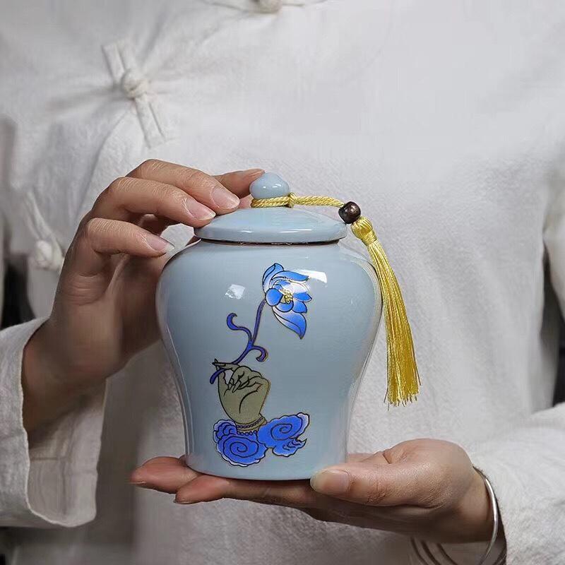 茶叶罐手绘