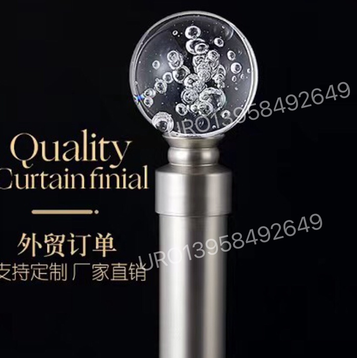 curtain rod with cheap price crystal curtain finials