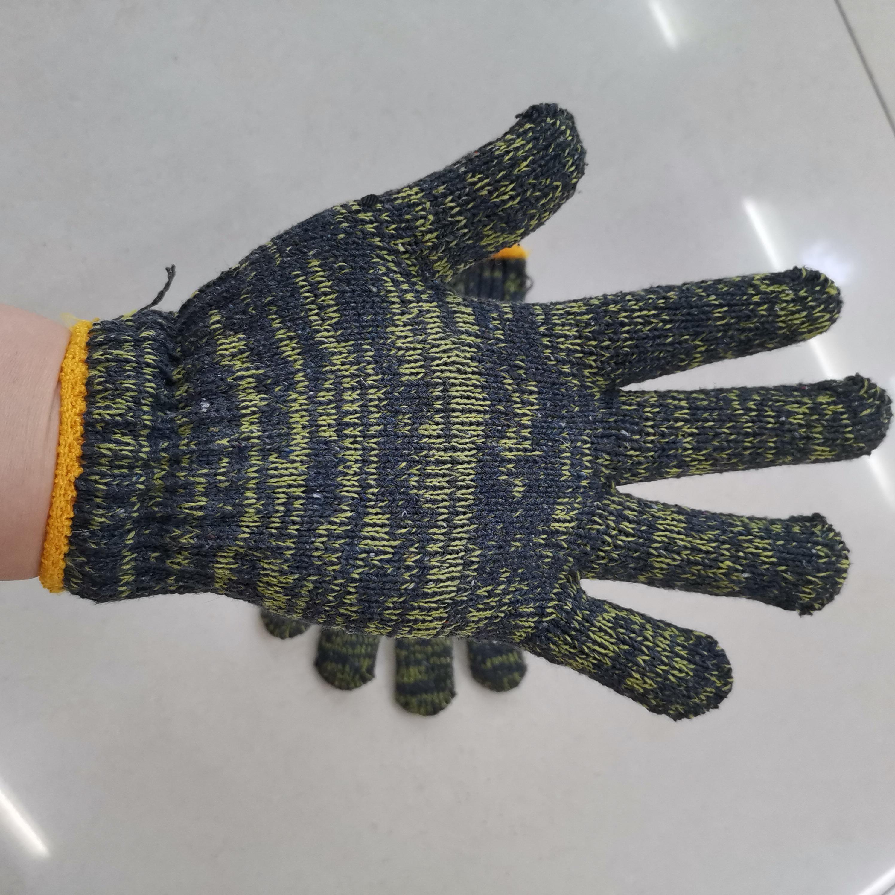 绿花 纱手套  电脑机织