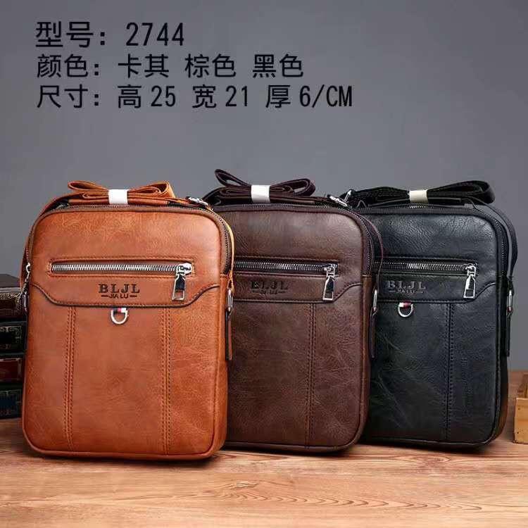 2744新款pu男包男士单肩斜挎包背包休闲皮包外贸包潮流韩版