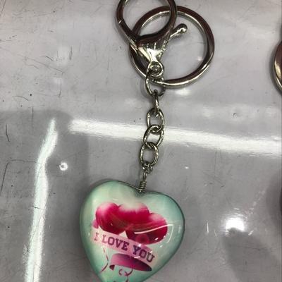 爱心钥匙扣