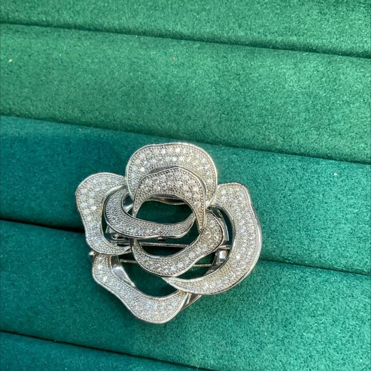 微镶钻石丝巾扣