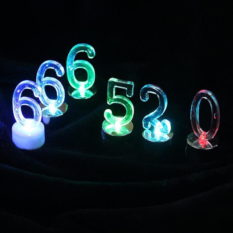 创意led数字红底1蜡烛灯儿童生日蛋糕蜡烛七彩发光数字字母灯