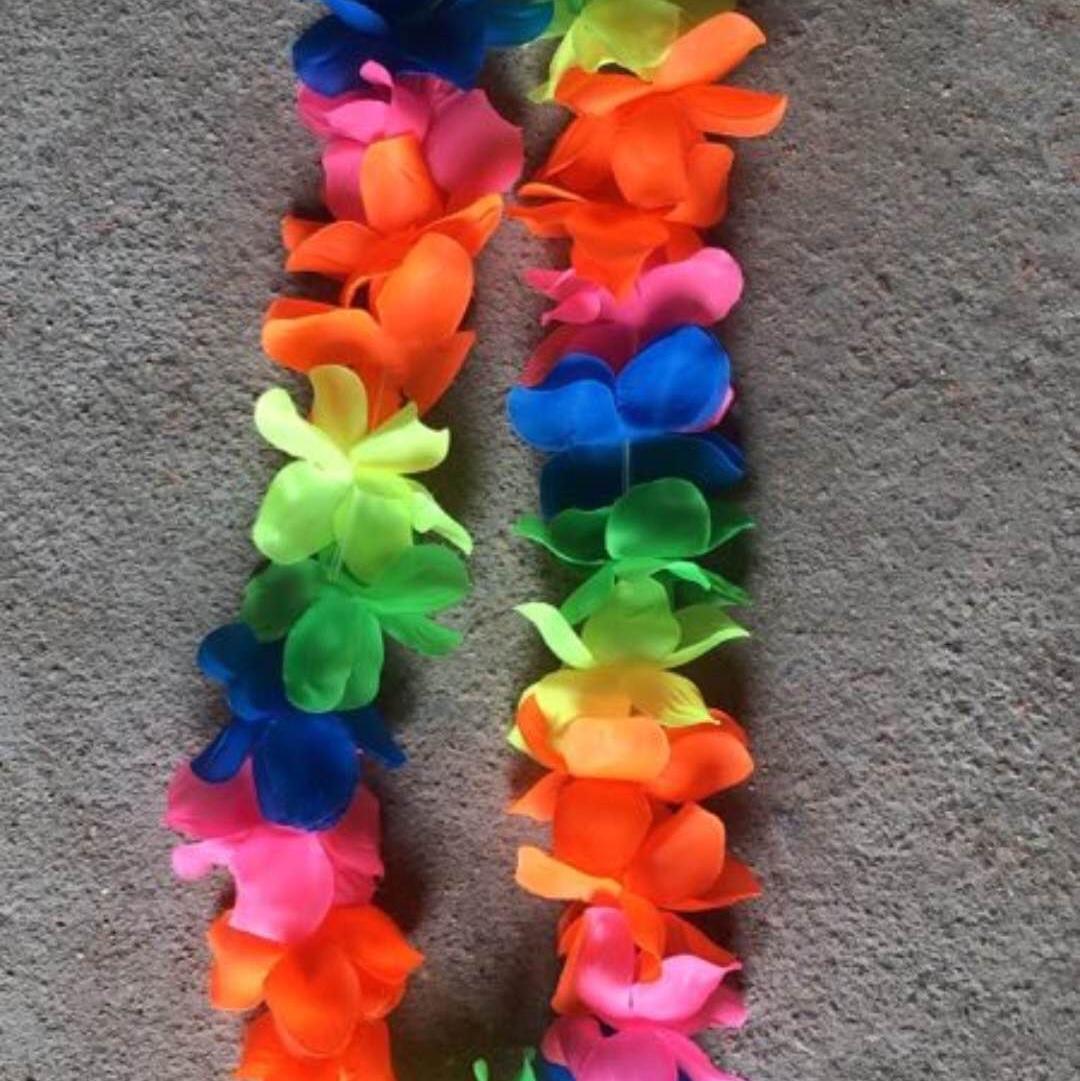 夏威夷风格花环头扣项链彩色单色均可,派对用品