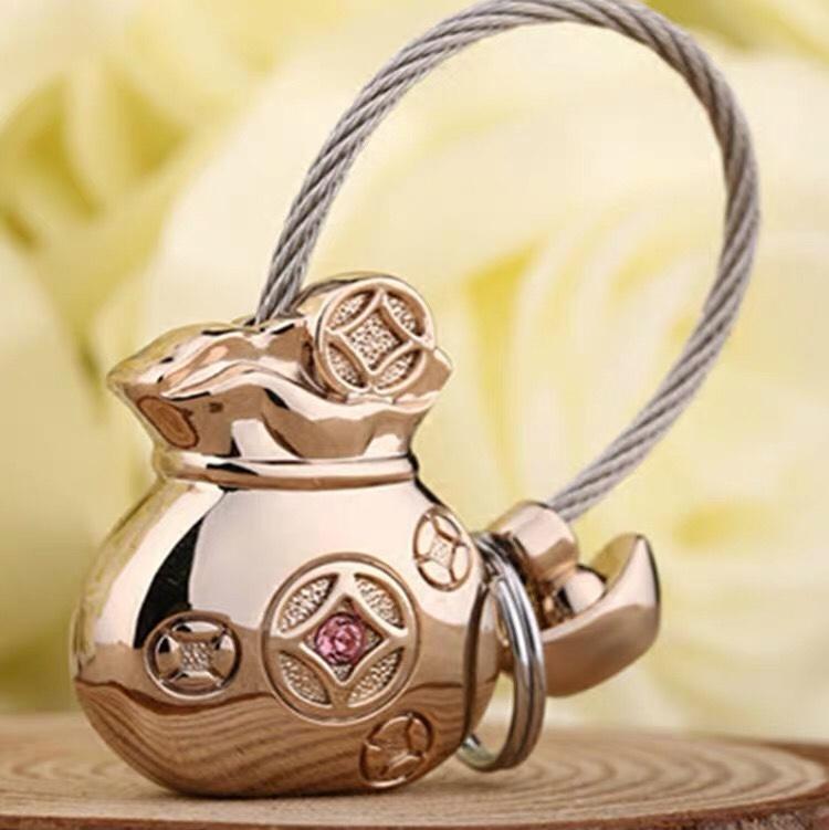 米勒斯钱袋钥匙扣女精致挂饰车钥匙链可爱简单大气情侣钥匙圈环男