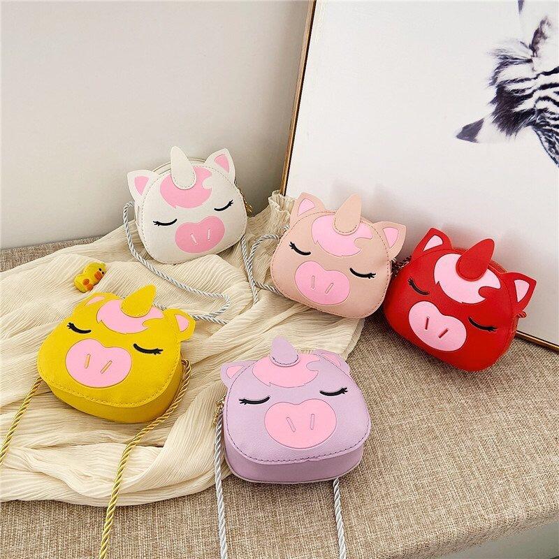 新款卡通牛宝宝斜跨包包时尚韩版街拍女童迷你小背包零食零钱