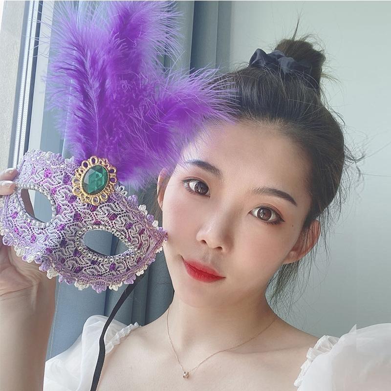 成人面具女半脸公主万圣节化妆舞会古风可爱性感舞台cos表演道具73